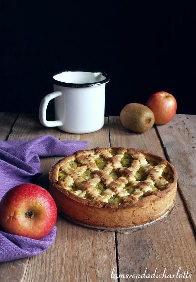 crostata di mele e kiwi