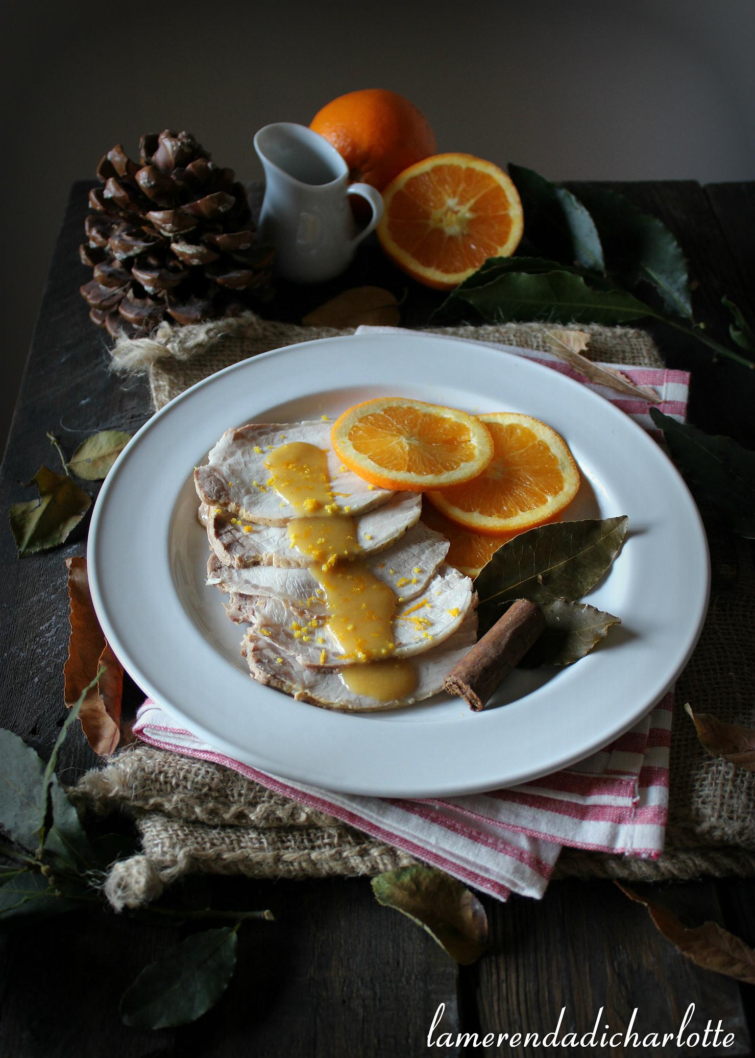 arrosto all'arancia e cannella