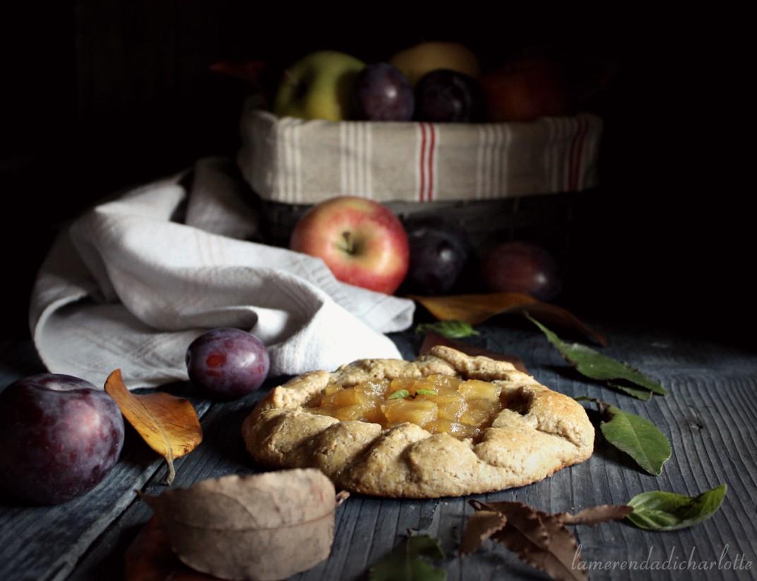 galette integrali con composta di mele e prugne