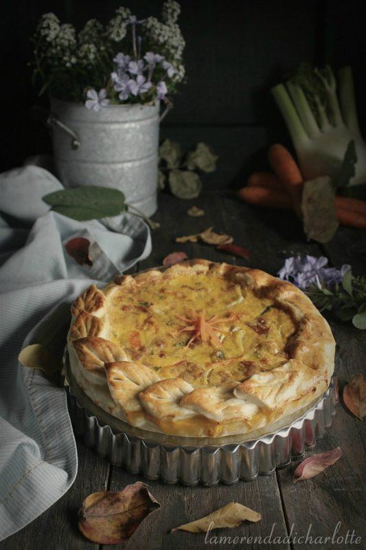 torta salata con finocchi e carote