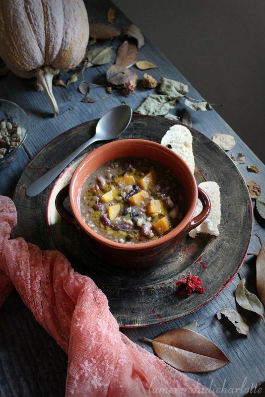 minestrone di grano khorasan e zucca