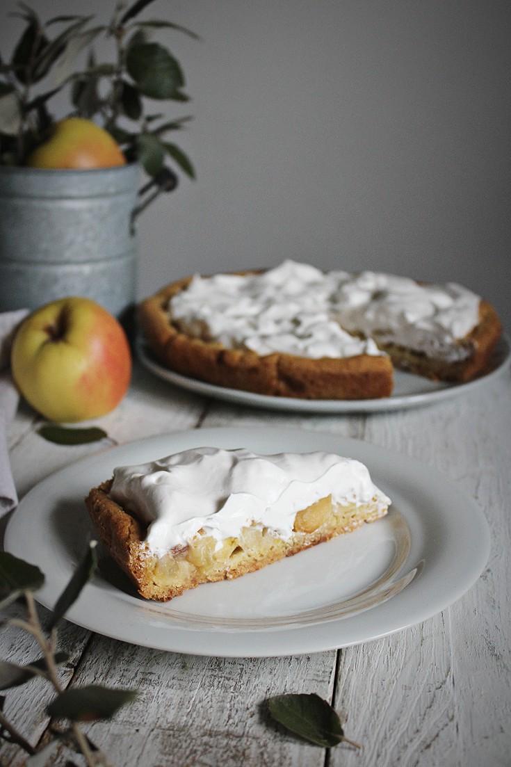 torta con mele e panna
