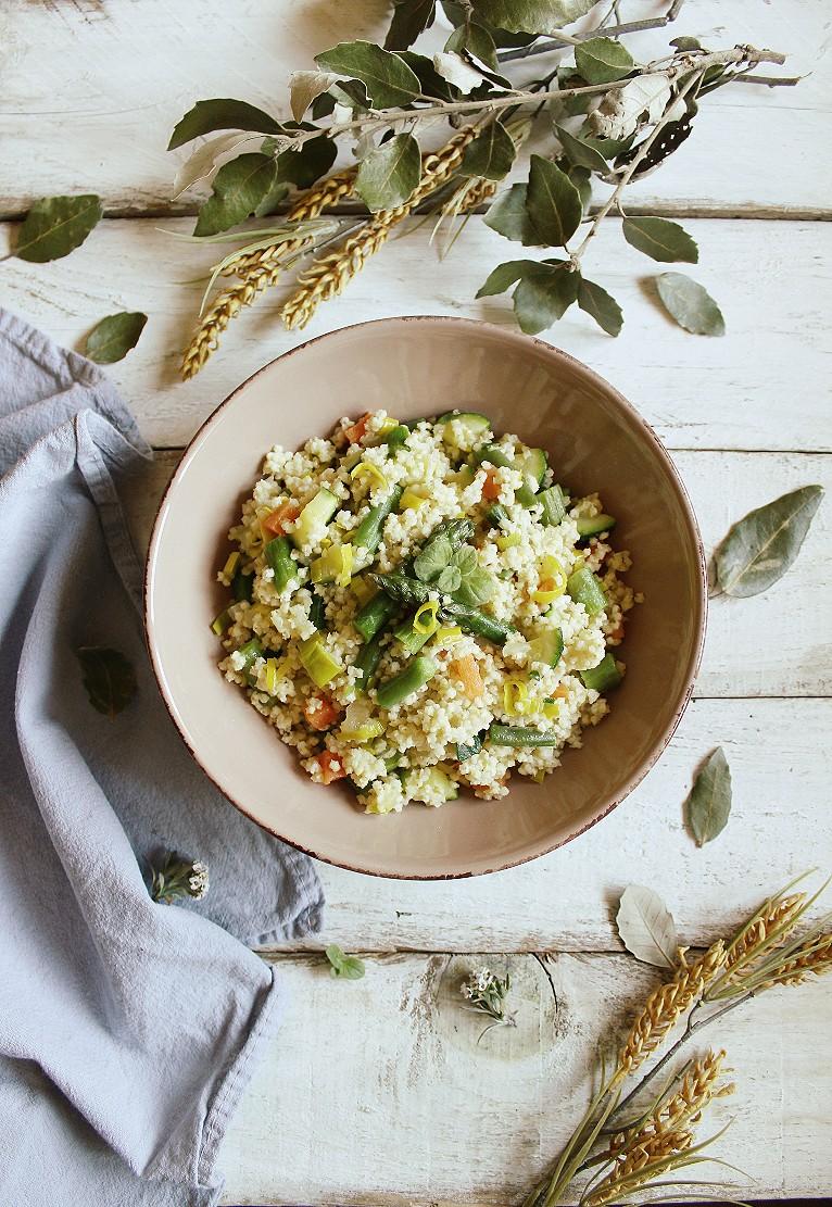 miglio alle verdure primaverili