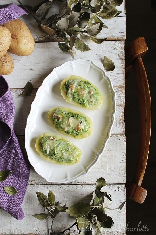 patate ripiene alle zucchine e gorgonzola